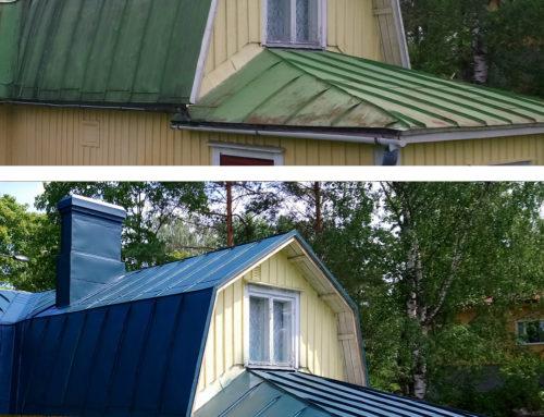 Maalauksella lisävuosia katolle